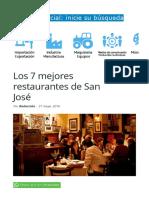 Los 7 Mejores Restaurantes de San José _ Conozca Su Cantón