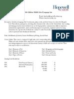 2015 syllabus - ms language arts