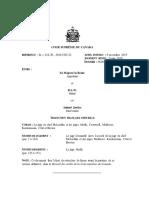 Décision de la Cour suprême du Canada