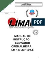 Manual Elevador Cremalheira Lm1.5