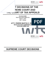 PDR Tax Forum 2016 Recent Court Decisions on Tax - Final