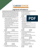 8. Arrangement of Sentences