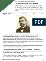A Definição de Ação Social de Max Weber