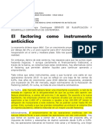Factoring. Diario Financiero 30.3.2016
