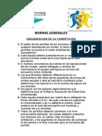 Normas Generales 36 Horas XXVII Edición