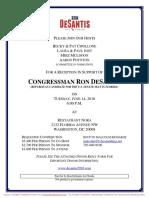 Reception for Ron DeSantis