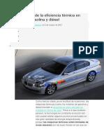 Los Límites de La Eficiencia Térmica en Motores Gasolina y Diésel