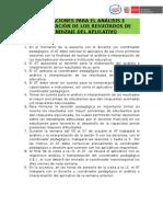 Orientaciones, Analisis e Interpretación de Aplicativos