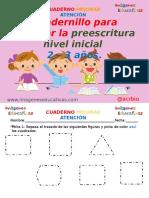Cuadernillo Fichas Para Trabajar La Preescritura Nivel Inicial 2 – 3 Años.