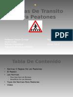 Normas de Transito Para Peatones
