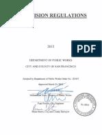2015 San Francisco Subdivision Regulations