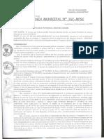Ord. Nº 162-MPSC _ Aprueba El Esquema Del Plan Director Para La Ciudad de Huamachuco