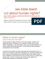 Biblical View on Human Rights
