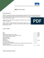 WAVE Check List modeling engine