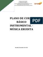 Planos de Cursos Bsico Instrumental - Msica Erudita de Zembro de 2013