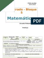 Plan 2do Grado - Bloque 5 Matemáticas.doc