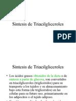 21. Triacilgliceroles, Fosfolipidos, Biosintesis de Acidos Grasos.