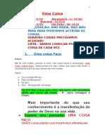 Uma Coisa Faço, Necessário, Buscarei, Sei, Falta - 10-01-2016 - IPJP NOITE