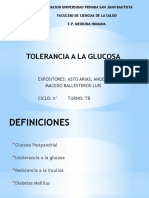 Seminario Tolerancia a la glucosa