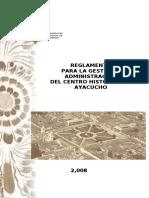 Reglamento del Centro Histórico de Ayacucho_2008 .pdf