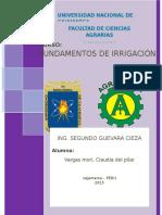 Fundamentos de Irrigacion