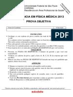 Prova de Residência Unifesp - física médica