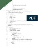 Shell Script in c