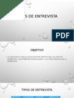 Tipos de entrevista, Modalidad y Caracteristas Del Entrevsitador (1)