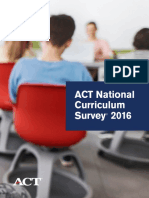 ACT National Curriculum Survey 2016