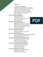 Áreas de Conocimiento de La Dirección de Proyectos