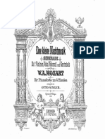 Mozart Serenade Piano Duet 4 Hands