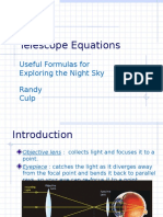 Telescope Equations