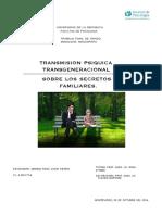 transmisión psiquica generacional