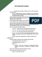 SACS Checklist - Latest Version