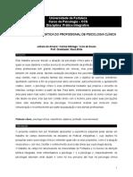 A REALIDADE NA PRÁTICA DO PROFISSIONAL DE PSICOLOGIA CLÍNICA