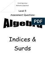 n5 algebra surds and indices ppqs