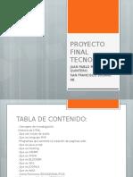 Proyecto Final Tecnologia