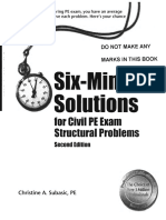 314117673 Six Minute Solutions for Civil PE Exam Structural Problems
