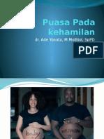 Fasting Pregnancy