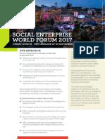 Social Enterprise World Forum 2017 flyer