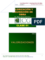 Valorizaciones Clase 1