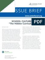 3 school culture the hidden curriculum - 3
