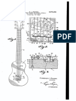 """U.S. Patent 2,573,254 entitled """"Combination bridge and pickup assembly for string instruments"""", to Fender, 1951."""