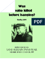 Was Bhutto Killed Before Hanging