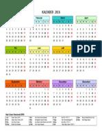 Kalender 2016 New