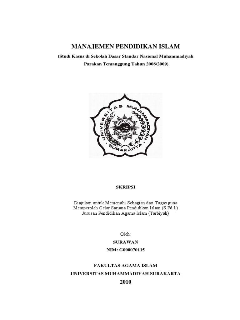 80094828 Skripsi Judul Manajemen Pendidikan Islam Pdf