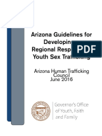 Arizona Guidelines for Developing a Regional Response to Youth Sex Trafficking
