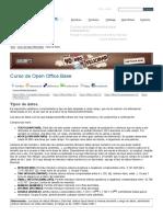 Open Office Base  Tipos de Datos