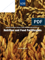 Special Evaluation Study of ADB Interventions on Nutrition and Food Fortification
