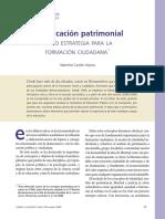 Catón Valentina - La Educación Patrimonial y La Formación Ciudadana